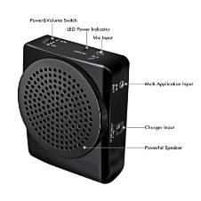 Portable Voice Amplifier Speaker Megaphone KU-899 black