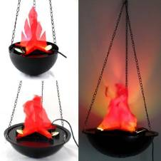 Halloween Electric Brazier Funny Fake Fire Basket