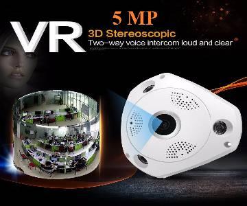 4K 5MP Fish Eye Panoramic IP Camera