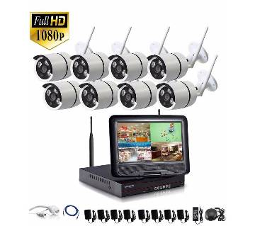 8CH Wifi NVR 2MP IP Camera 10.1 inch LCD