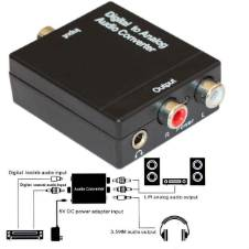 Digital to Analog Audio Converter Coaxial SPDIF Toslink Optical to L / R 3.5mm Audio Converter