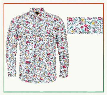 Printed cotton casual shirt for men