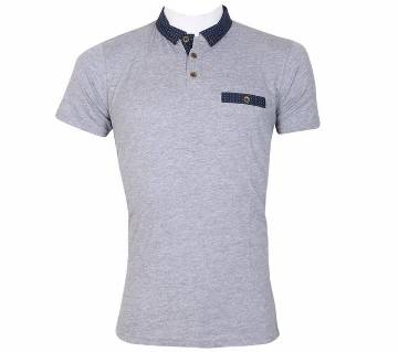 Gents Woven Collar Polo Shirt