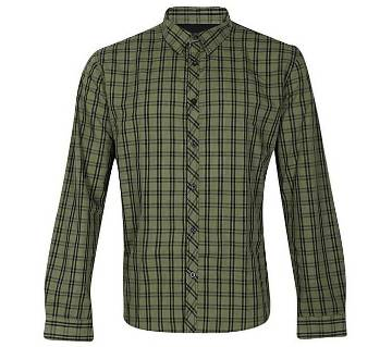 Multicolor Cotton Long Sleeve Casual Shirt for Men