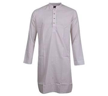 Light Pink Cotton Short Panjabi for Men