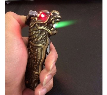 Dragon Gas lighter with knife