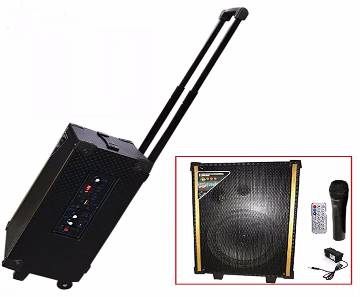 Soler Sound Rechargeable Bluetooth Karaoke System Trolley Speaker With Mic