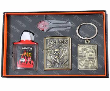 fuel burning lighter with key ring