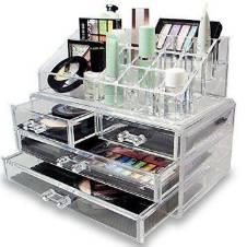 Acrylic cosmetics organizer - Transparent