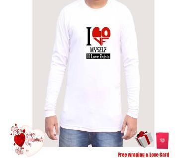 Customized Printed Full Sleeve T-Shirt