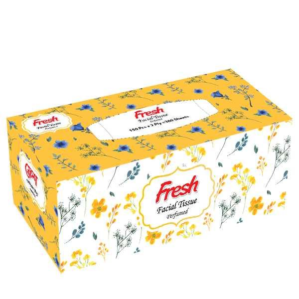 Fresh Perfumed Facial Tissue (150 X 2) ply Box 1 pcs