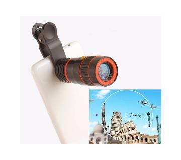 8X zoom telescope mobile lens