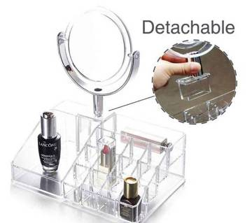 MAKEUP ORGANIZER WITH MIRROR