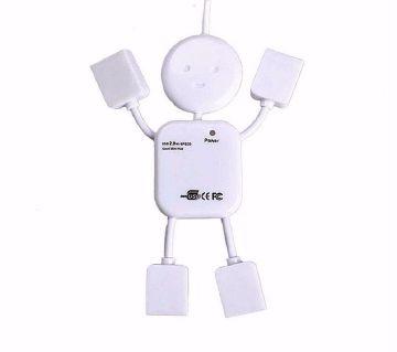 মান শেপড ৪ পোর্ট USB হাব
