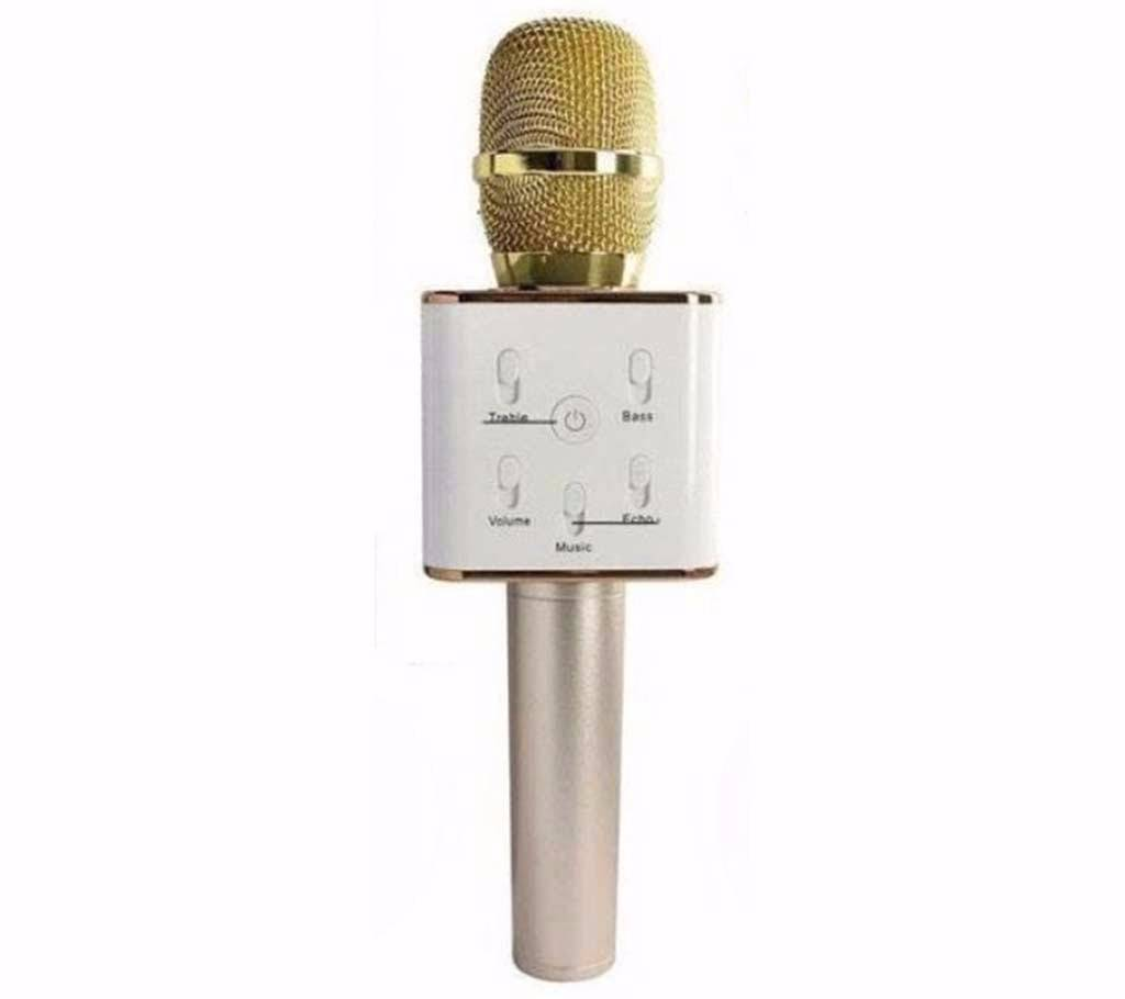 wireless q7 karaoke microphone with speaker in bd ajkerdeal. Black Bedroom Furniture Sets. Home Design Ideas
