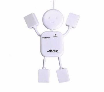 man শেপড ৪ পোর্ট USB হাব