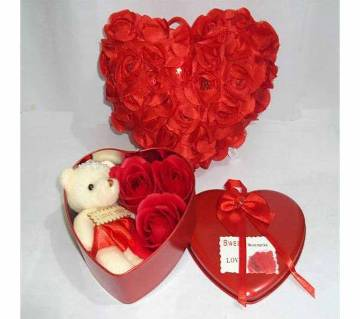 Valentine Gift Box with Pillow combo