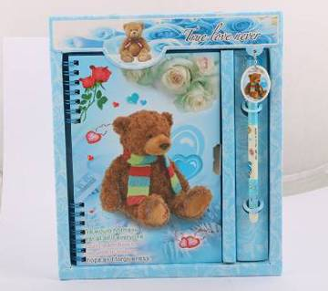 Lock diary with pen gift box