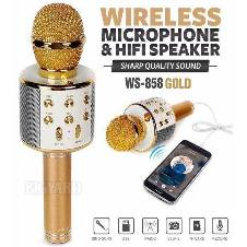 WS-858 Wireless Bluetooth HIFI Karaoke Microphone