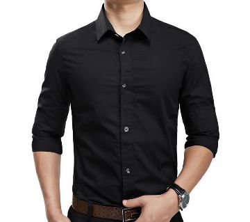 Full sleeve Formal Gents shirt (black)