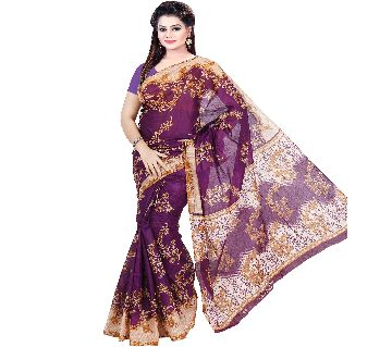 BS16 Printed Cotton Saree For Women