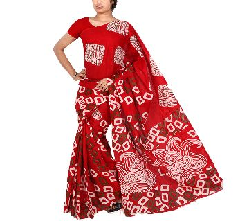 BS27 Printed Cotton Saree For Women
