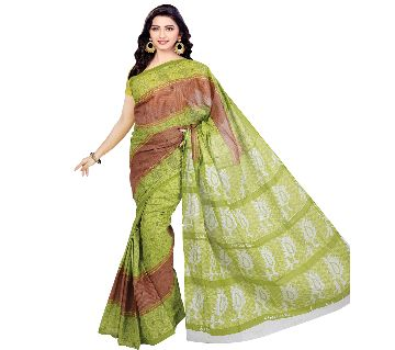 BS19 Printed Cotton Saree For Women