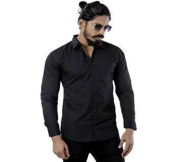 FSBlack Cotton Slim Fit Formal Shirt