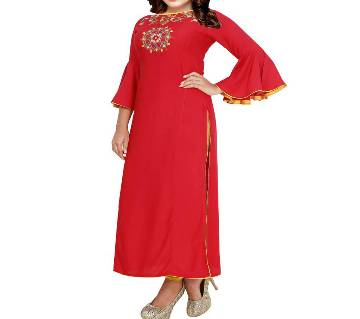 Linen Stitched Kurti for Womens
