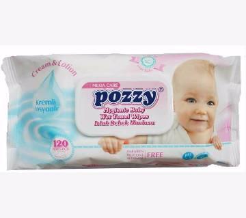 Pozzy বেবি ওয়েট টাওয়েল ওয়াইপস- ১২০ পিস