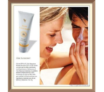 Forever Aloe Sunscreen lotion