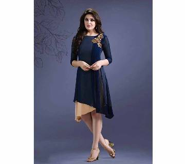 Semi Stitched Double part Georgette  kurti - Copy