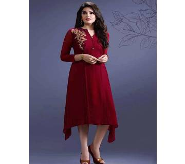 Semi Stitched Georgette  kurti - Copy