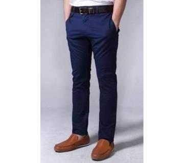 twill gabardine pant for men-blue