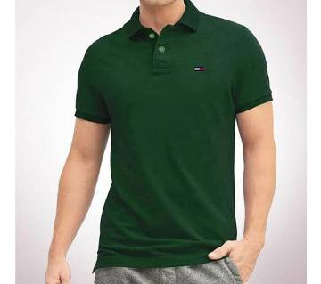 Gents Cotton Polo Shirt (Color Ramdom)