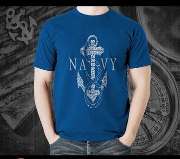 Navy Designed T-shirt for Men