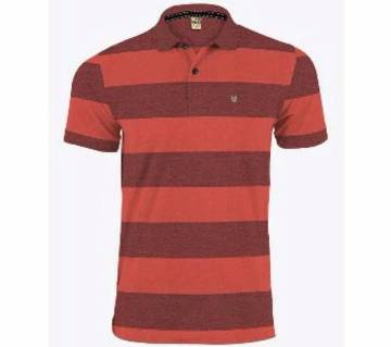 Police Menz Striped Polo Shirt - Copy