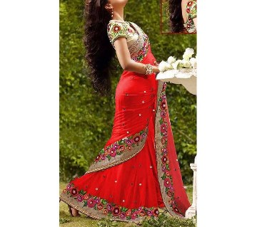 Indian Embroidery Georgette Sharee
