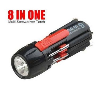 8 in 1 Multi-functional Screwdriver with Torch