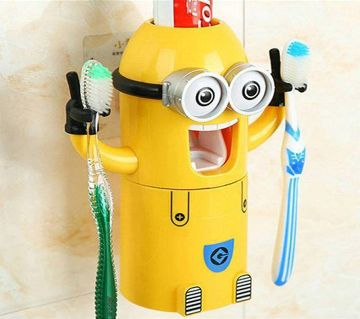 Minion Tooth Dispenser and Toothbrush Holder