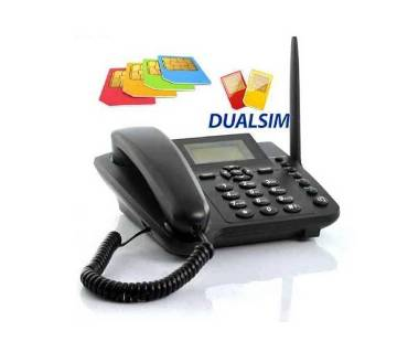 SIM Card Supportable Desktop Phone Dual SIM