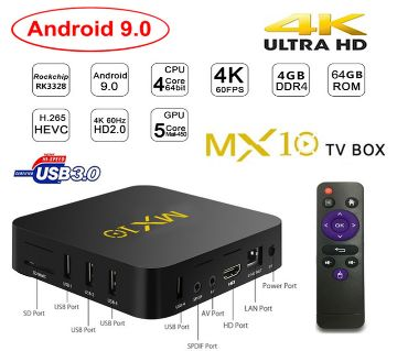 MX10 Android TV Box 4GB 32GB