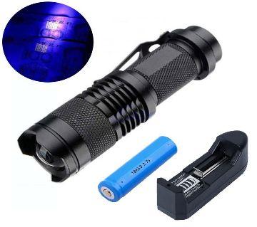 UV LED Flashlight Torch Light