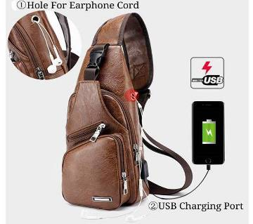 Haodier Leather Cross Body BackPack