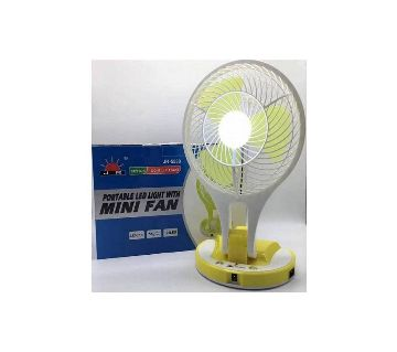 portable LED light with fan