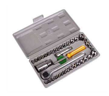 40 PCS Combination Socket Wrench