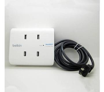 Belkin 2.4A Full Rate USB Charger, 4-Port