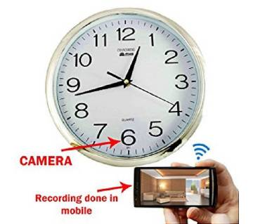 Wifi Wall Clock Hidden Spy Camera