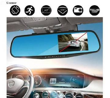 Anti-Accident Dual-lens Rear view Mirror Car Record