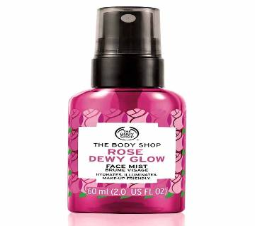 Body Shop Rose Dewy Glow Face Mist 60ml-UK